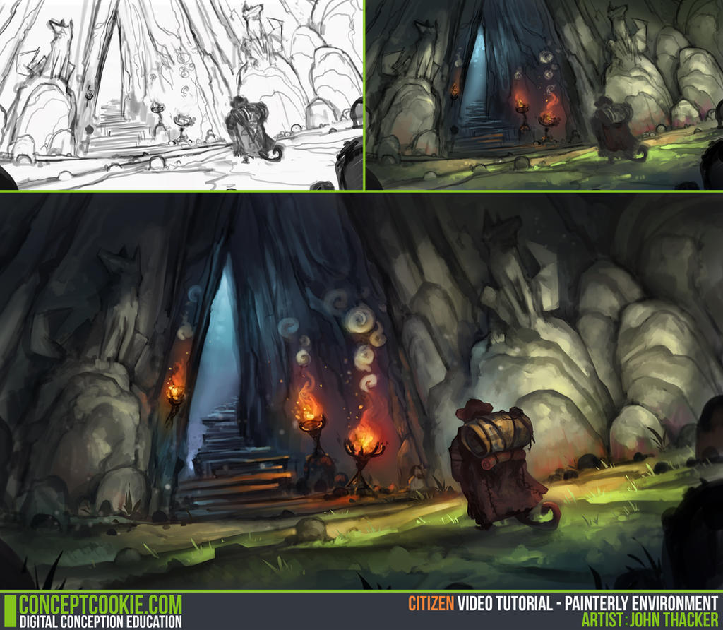 Tutorial: Painterly Environment by CGCookie