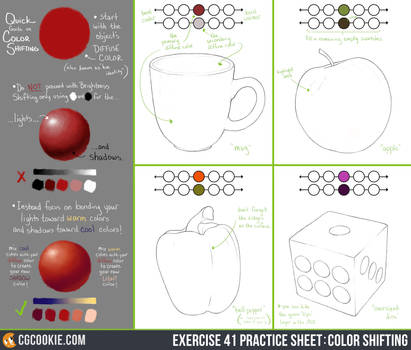 Exercise 41 Practice Sheet: Color Shifting