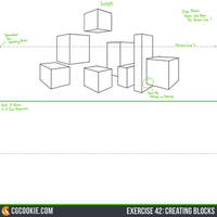 Exercise 42 Practice Sheet: Creating Blocks by CGCookie