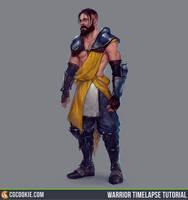Warrior Timelapse Tutorial by CGCookie