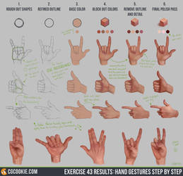 Exercise 43 Results: Hand Gestures Step by Step by CGCookie
