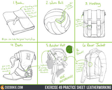 Exercise 49 Practice Sheet: Leatherworking
