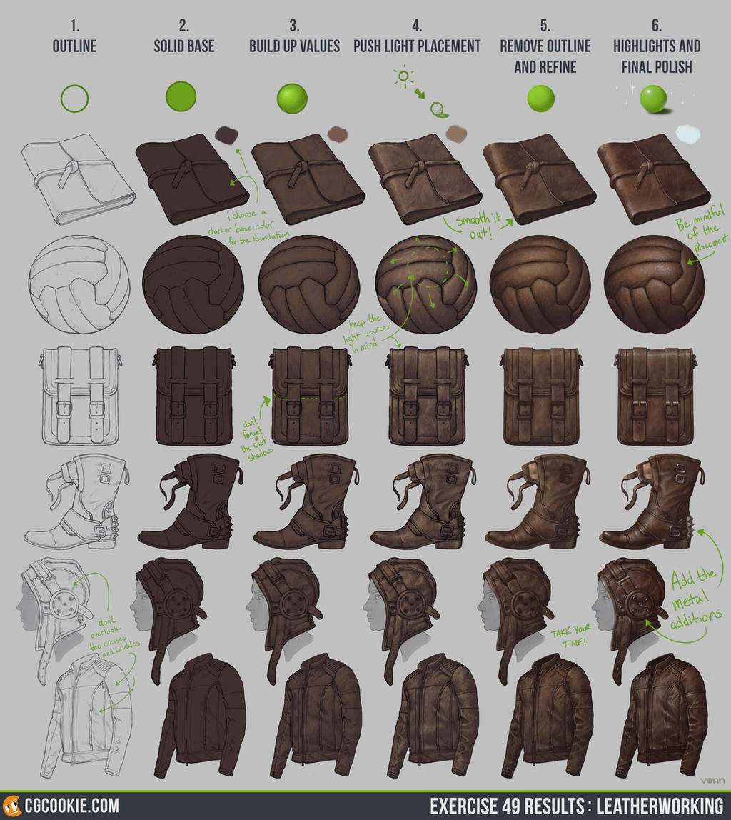 Exercise 49: Leatherworking Step by Step