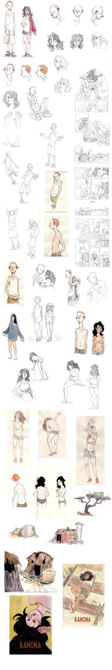 Ramona sketchdump by Le-Sushi