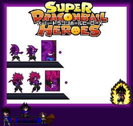dragon ball heroes :nuevo enemigo y gogeta absorb! by naickmer