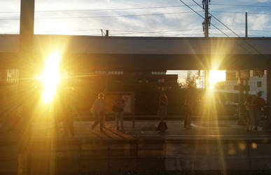 Two Suns at the station
