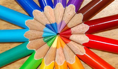 Color Wheel Pencils by sonorousviola