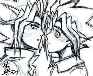 ...and they kissed. Almost. by lanlan