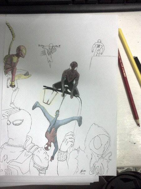 Spider-man multiverse by hmichel