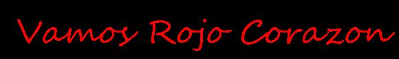 Texto png Vamos Rojo Corazon by EdicionesCecy