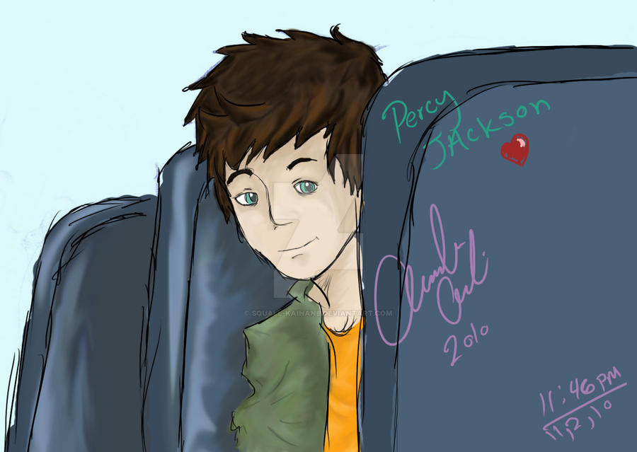 Percy Jackson- colored Sketch by Squall-Kaihane