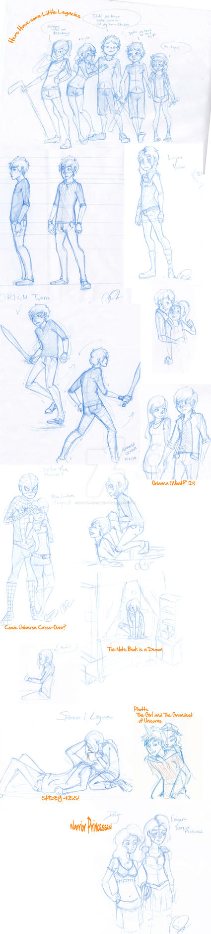 Sketch Dump of Awesome by Squall-Kaihane