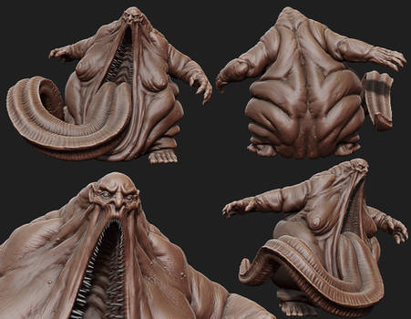 Fat Demon Zbrush