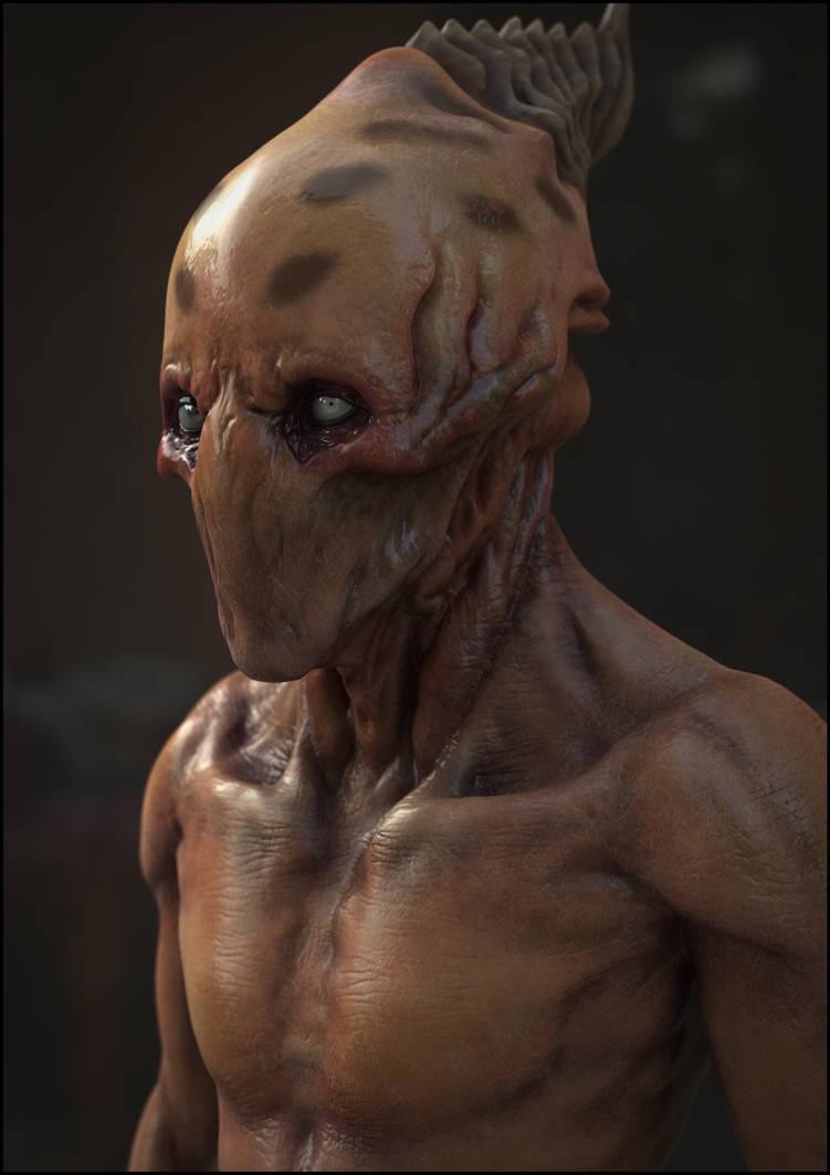 Alien Portrait by panick