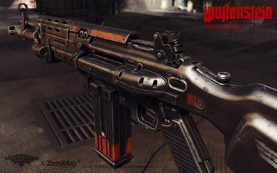 Assault Rifle 1960 rear view