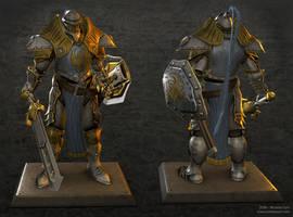 Sword Knight of Cygnar by panick
