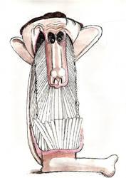 Hans Landa Caricature by aaronphilby