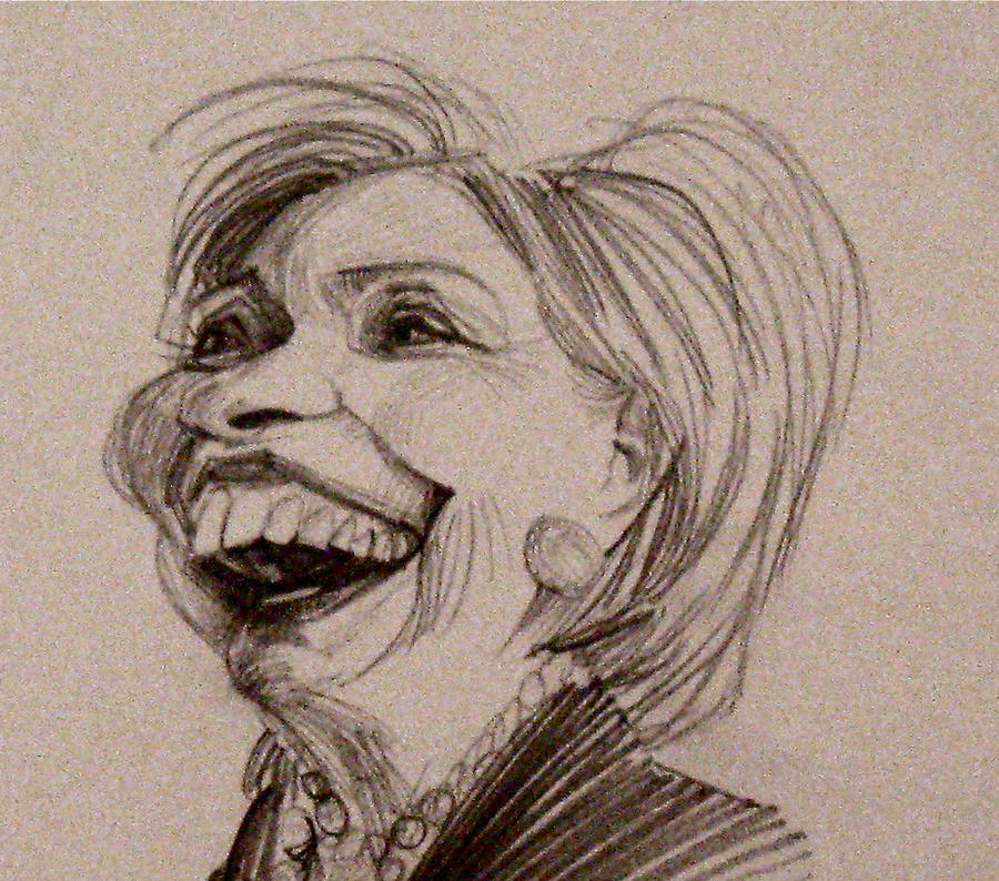 Hilarity Clinton by aaronphilby
