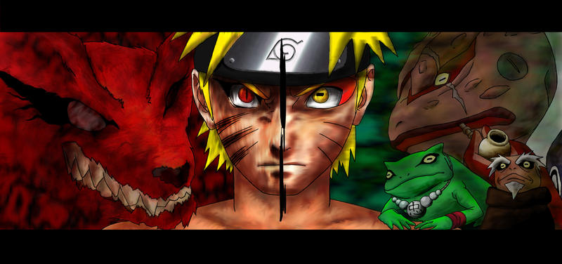 Naruto  Kyuubi Sage mode by avada5Sage Mode And Kyuubi Mode