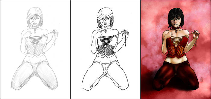 Angelique: From Sketch to Colors