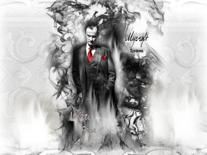 Mycroft Systems White Fire Wallpaper by akatsukinoshimo