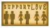 STAMP: Support Love - gold by StampsGoneMissing