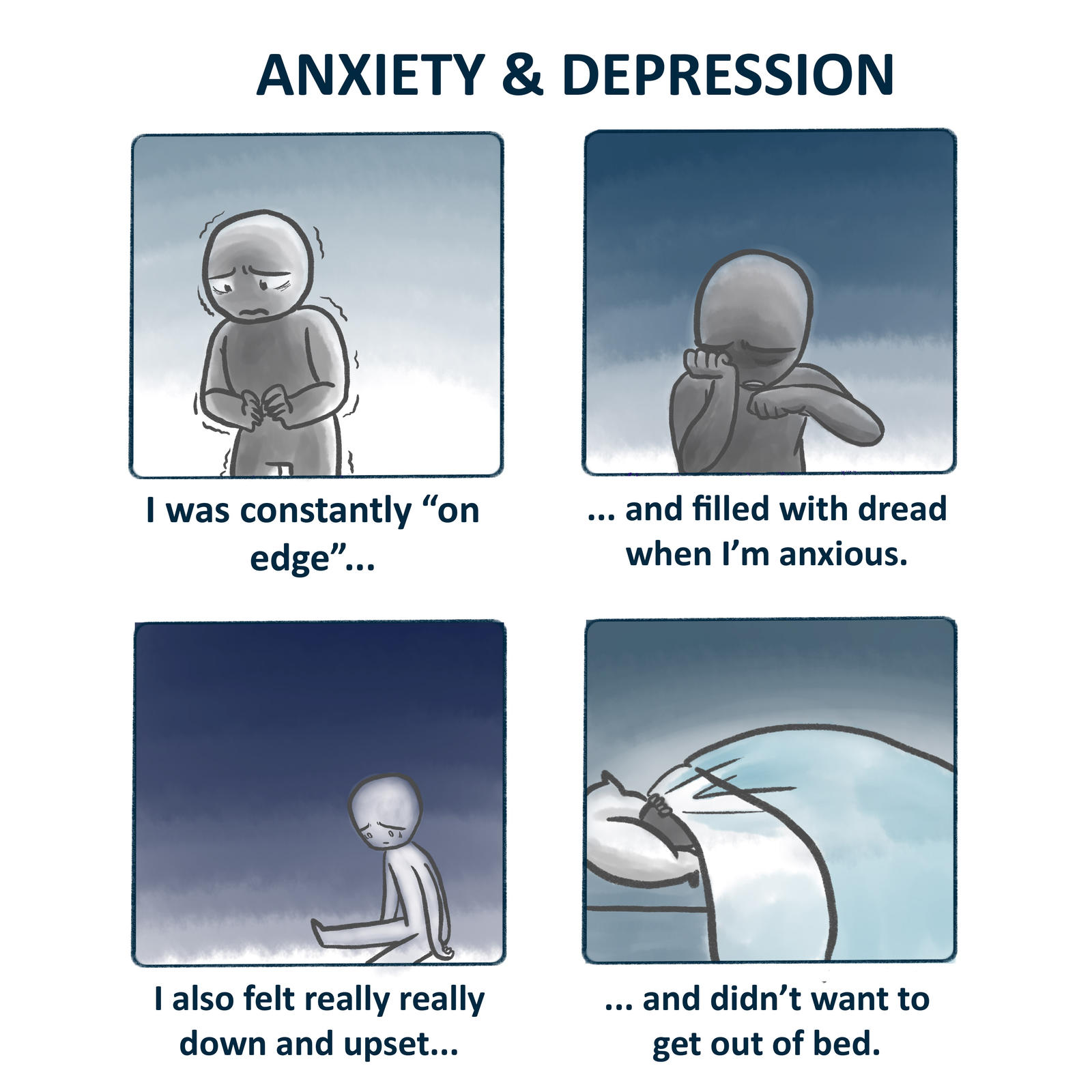 Anxiety And Depression On Edge Viva By Myoo89 On Deviantart