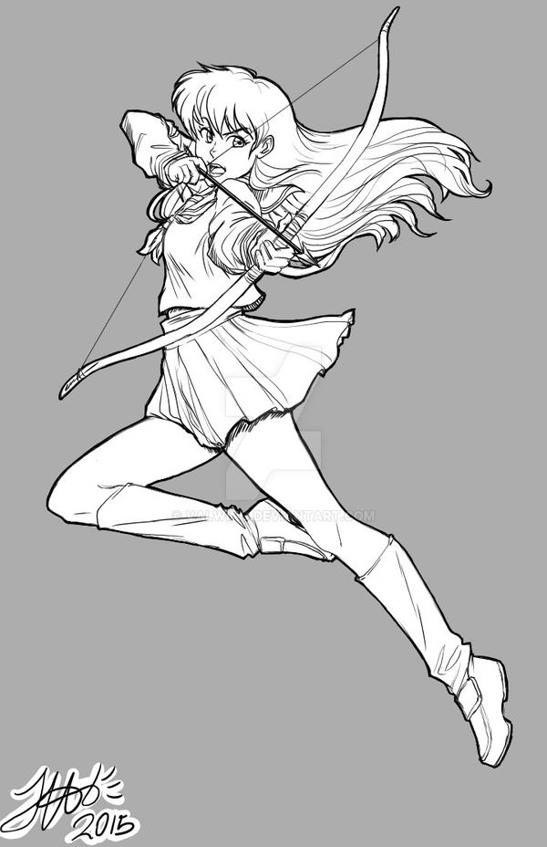 Kagome In Action by ValWing