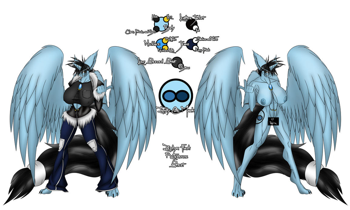 Zephyr Flash Female Anthro Reference Sheet Censore by ZephyrFlash