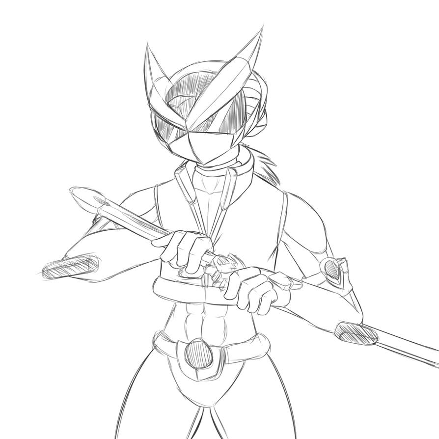 Random Megaman Sketch by ZephyrFlash
