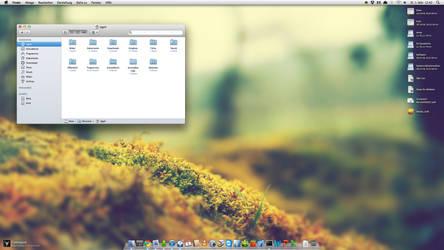 Desktop of my iMac at Work by Appl3ju1ce