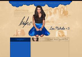 Lea Michele layout 3 by VelvetHorse