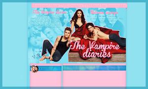 The Vampire Diaries layout 2 by VelvetHorse