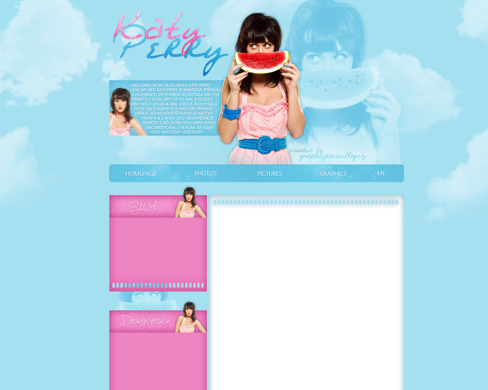 Katy Perry layout 3 by VelvetHorse