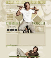 Chris Hemsworth layout 1 by VelvetHorse