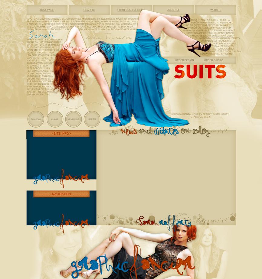 Sarah Raffery layout by VelvetHorse