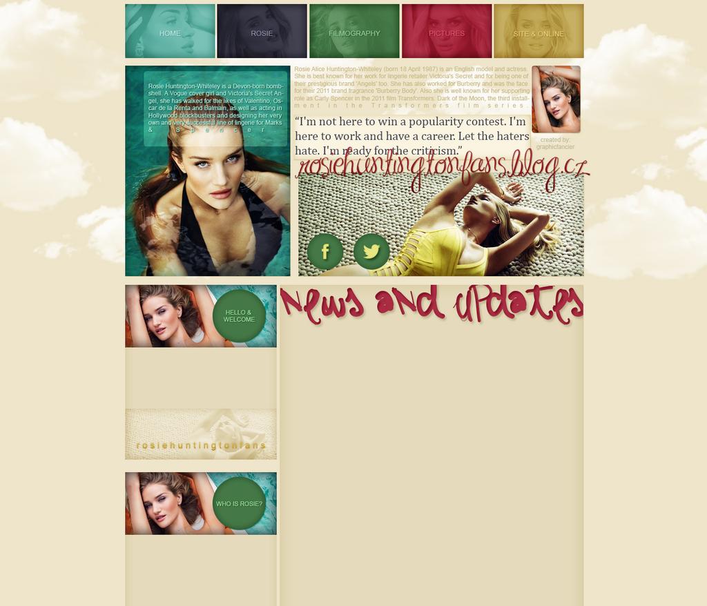 Rosie Huntington-Whiteley layout 4 by VelvetHorse