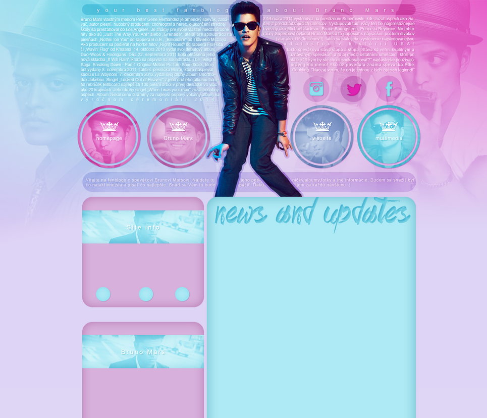 Bruno Mars layout 1 by VelvetHorse