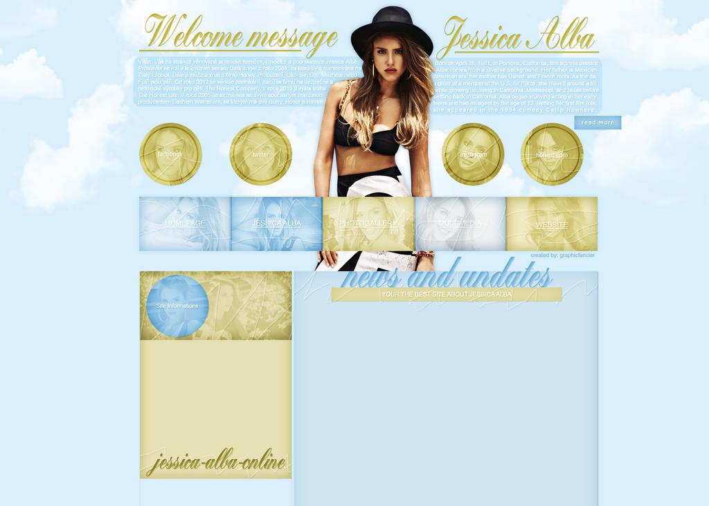 Jessica Alba layout by VelvetHorse