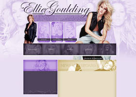 Ellie Goulding layout 1 by VelvetHorse
