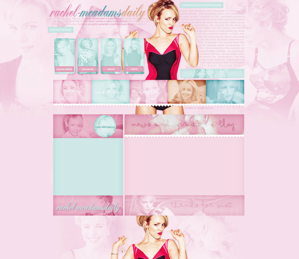 Rachel McAdams layout 2 by VelvetHorse