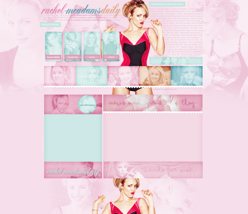Rachel McAdams layout 2 by VelvetHorse