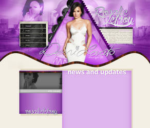 Demi Lovato layout 7 by VelvetHorse