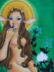 The Deer Mother by NibbleKat