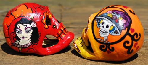 2012 Dia de los Muertos skulls