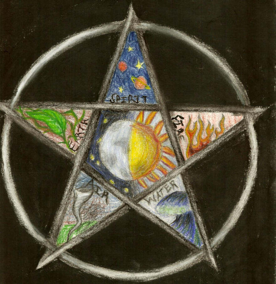 Pentacle by bloody morning after on deviantart - Symbole de protection ...