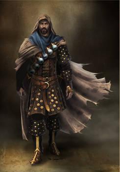 Character concept commission: techno-fantasy hero