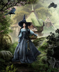 The Witch going into the woods