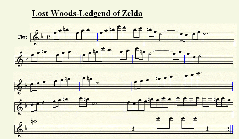 Lost Woods for Flute by tsuki50 on DeviantArt