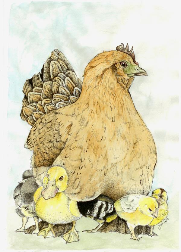 A proud mamma by LadyOrlandoArt